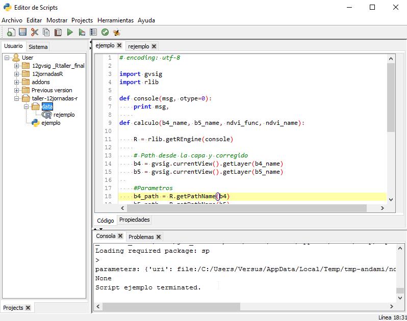 Taller: Integración de R en gvSIG — gvSIG Docs 1 0 0 documentation